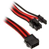 Phanteks 6+2 Pin PCIe Verlängerung 50cm sleeved schwarz/rot