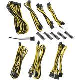 BitFenix Alchemy 2.0 PSU Cable Kit, BQT-Series SP10 - schwarz/gelb