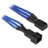 BitFenix 3-Pin Verlängerung 90cm - sleeved blau/schwarz