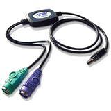 ATEN Maus- und Tastatur-Adapter UC10KM, PS/2 an USB
