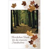 "Susy Card Danksagungskarten - Trauer ""Herbstwald"""