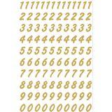 HERMA Zahlen-Sticker 0-9, Folie transparent, Zahlen gold