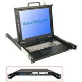 "Lindy 17""LCD KVM Terminal Classic DE 19""1HE Single Rail Schublade"