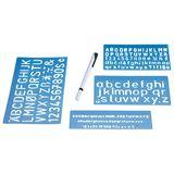 WEDO Schriftschablonen-Set, Schrifthöhen: 5 mm, 10 mm, 20 mm