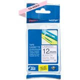 Brother TZE-MQE31 Laminiertes Tape 12mm pink/schwarz