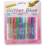 Folia Glitzerkleber Glitterglue 9,5 ml, farbig sortiert
