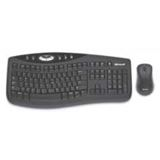 Microsoft Cordless Desktop 2000 Tastatur+Maus Schwarz Deutsch USB