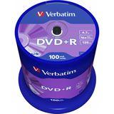 Verbatim DVD+R 4.7 GB 100er Spindel (43551)