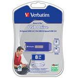 8 GB Verbatim Store `n` Go Drive Reatractable blau USB 2.0