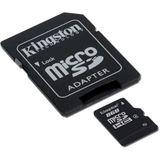 8 GB Kingston Standard microSDHC Class 4 Bulk inkl. Adapter