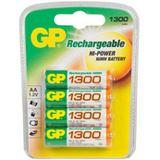 GP Batteries ReCyko+ HR6 Nickel-Metall-Hydrid AA Mignon Akku 1300 mAh 4er Pack
