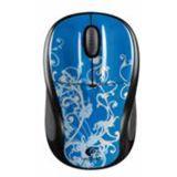 Logitech Wireless M305 Blue Flourish Optische Maus Schwarz/Blau USB