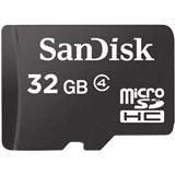 32 GB SanDisk Standard microSDHC Class 4 Bulk