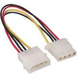 (€19,75*/1m) 0.20m Good Connections IDE Stromadapterkabel intern 4pol Stecker auf 4pol Buchse Schwarz/Rot/Gelb