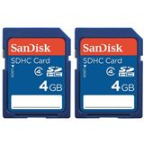 4 GB SanDisk Value SD Class 2 Retail 2er-Pack