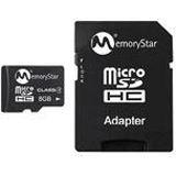 8 GB Memorystar SDHC Class 4 Bulk inkl. Adapter