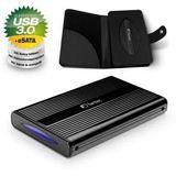 "1000GB Fantec DB-228U3e 14806 2.5"" (6.4cm) eSATA/USB 3.0 schwarz"