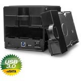 "Fantec SQ-X2RU3e 3.5"" (8,89cm) eSATA/USB 3.0 schwarz"