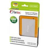 """Fantec AluPro U3 2.5"""" (6,35cm) USB 3.0 silber/orange"""