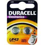 Duracell Electronics LR43 Alkaline 1.5 V 2er Pack