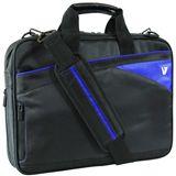 "V7 Edge Toploader 13.3"" (33,78cm) schwarz/blau"