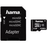 8 GB Hama Photo microSDHC Class 10 Retail inkl. Adapter auf SD