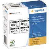 Herma 4837 selbsklebend 2 fach Anlagenummern 1.5x2.2 cm (1000 Stück)