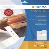 Herma Fotosichthüllen 90 x 130 mm hoch weiß 10 Hüllen