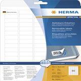 Herma 10003 ablösbar Universal-Etiketten 3.56x1.69 cm (25 Blatt (2000 Etiketten))