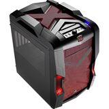 AeroCool Strike-X Cube Red Edition mit Sichtfenster Wuerfel ohne Netzteil schwarz/rot
