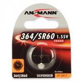 Ansmann Silberoxid-Knopfzelle, 1,55V, 364/SR60 (1516-0022), 1er-Blister