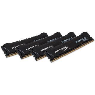 16GB Kingston HyperX Savage DDR4-3000 DIMM CL15 Quad Kit