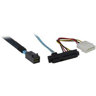 (€51,80*/1m) 0.50m Inter-Tech SAS Adapterkabel SFF-8643 Stecker auf 4xSFF-8482 Schwarz/Rot