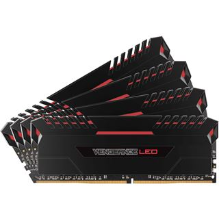 64GB Corsair Vengeance LED rot DDR4-3200 DIMM CL16 Quad Kit