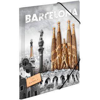 "HERMA Eckspannermappe ""Trendmetropolen - Barcelona"", PP, A3"