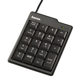 Hama SK110 KeyPad Slim Line Schwarz USB