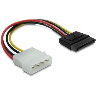 Delock HDD-Kabel 4pin auf S-ATA 15pin 6cm