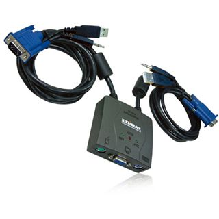 Edimax KVM Switch 2port EDIMAX EK-UA2C USB+Audio=>PS2 rt.