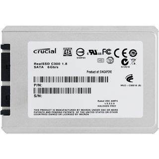 "128GB Crucial C300 Series 1.8"" (4.6cm) SATA 6Gb/s MLC asynchron (CTFDDAA128MAG-1G1)"