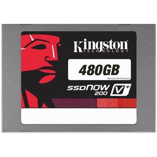 """480GB Kingston SSDNow V+ 200 2.5"""" (6.4cm) SATA 6Gb/s MLC asynchron (SVP200S3/480G)"""