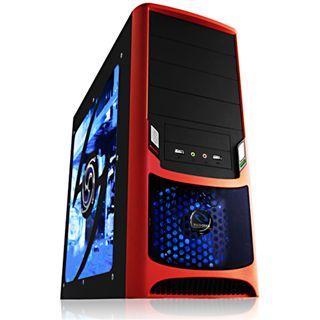 Raidmax Tornado R2 Midi Tower ohne Netzteil schwarz/rot