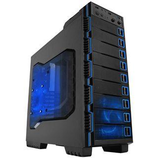 Raidmax Seiran Midi Tower ohne Netzteil schwarz/blau