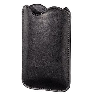 Hama MP3-Lederetui Classic Slim für iPod touch 4G, Schwarz