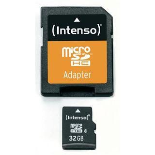 32 GB Intenso microSDHC Class 4 Bulk inkl. Adapter auf SD