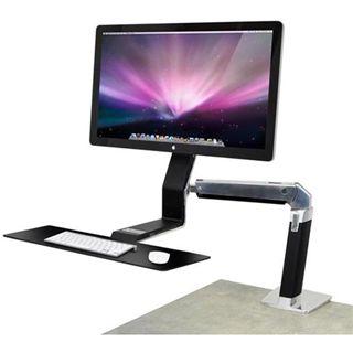 Ergotron 24-260-026 WorkFit-A Steh-Sitz-Arbeitsplatz Tischhalterung schwarz/silber
