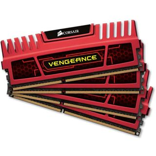 16GB Corsair Vengeance Red DDR3-2133 DIMM CL9 Quad Kit