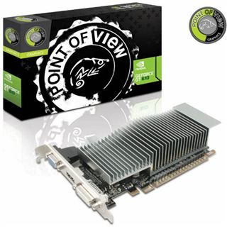 1GB Point of View GeForce GT 610 Low Profile Passiv PCIe 2.0 x16 (Retail)