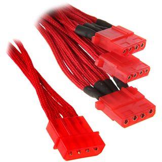 BitFenix Molex zu 3x Molex Adapter 55cm - sleeved red/red