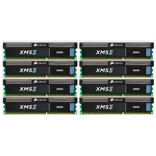64GB Corsair XMS3 DDR3-1333 DIMM CL9 Octa Kit