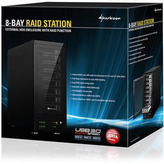 "Sharkoon 8-Bay Raid-Station 3.5"" (8,89cm) eSATA/USB 3.0 schwarz"